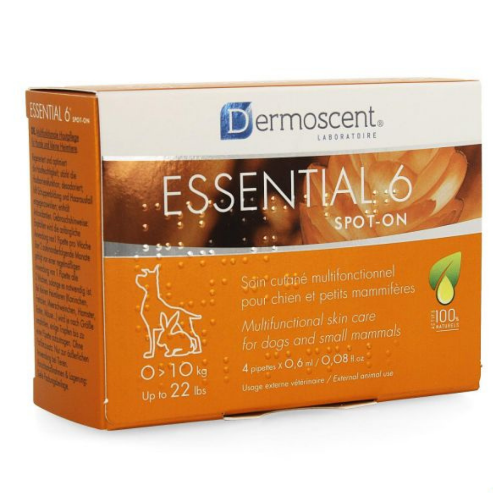 ESESSENTIAL 6 SPOT-ON CHIEN 10-20KG PIPET 4X1,2ML